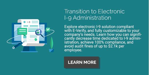 Electronic I-9 Verification Solution