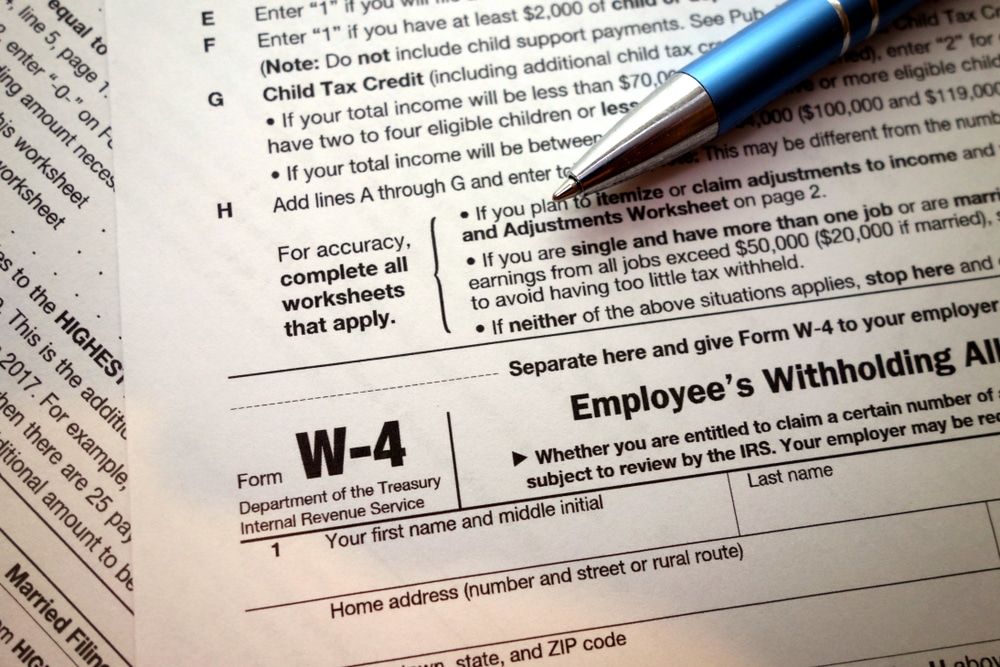 Form W-4 Form W-2 Tax Compliance
